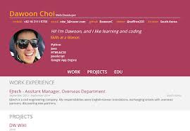 Online Resume Portfolio by Dw Portfolio