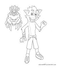 Crash Bandicoot And Aku Aku By Marythacake On Deviantart Crash Bandicoot Coloring Pages