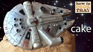 war cakes wars cake millennium falcon chocolate how to cook that