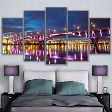 taiwan home decor canvas wall art modular pictures living room home decor 5 pieces
