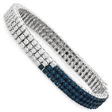 diamond bracelet sterling silver images Blue diamond bracelet for men 0 50ct sterling silver jpg