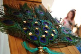 peacock feather fan anything that glitters diy peacock wedding projects part ii