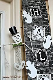 halloween door decor spookyspaces pinkwhen