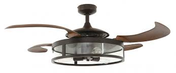 fan with retractable blades retractable blade ceiling fan fanaway classic bronze ceiling fans
