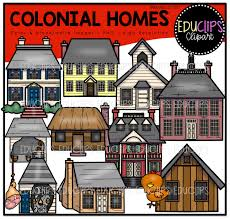 colonial homes clip art bundle color and b u0026w welcome to