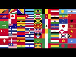 flags of all countries of the world with names 1st part by