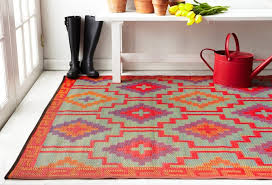 Outdoor Rugs Perth Lhasa Orange And Violet Indoor And Outdoor Plastic Rugs Fab Rugs