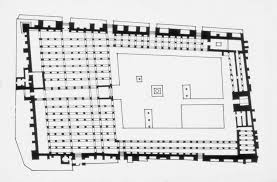 floor plan of a mosque great mosque of qayrawan mit libraries