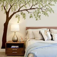 weeping willow tree decal with leaves scheme a