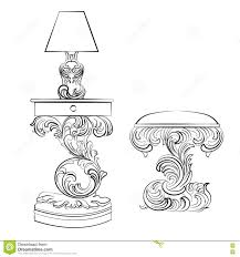 vector royal l and comode table with acanthus ornament pedestal