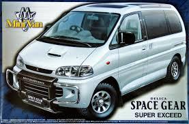 mitsubishi delica off road aoshima 09642 mitsubishi delica space gear super exceed 1 24 scale
