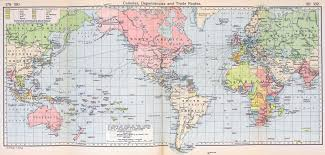 Maps C World Map Colonies And Dependencies In 1911