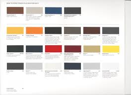 has ford published color names page truck here is a scan of the