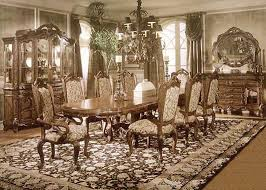 antique dining room sets home ideas with dining chairs and ornate hutch for