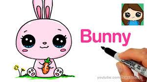 how to draw a cartoon bunny rabbit easy youtube