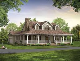 One Level Houses Single Story Farmhouse With Wrap Around Porch Square Feet 3