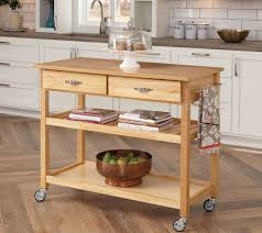folding island kitchen cart home styles solid wood kitchen cart page 1 u2014 qvc com