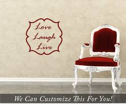 Live Love Laugh Home Decor Live Laugh Love Words With Border A Wall Decor Vinyl Lettering