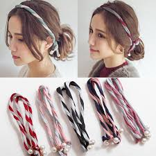 korean headband online shop korean version fabric pearl twine colorant match