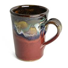 amazon com larrabee ceramics coffee mug mauve red kitchen u0026 dining