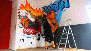 chambre enfant pompier deco murale chambre garcon 0 graff deco chambre garcon pompier