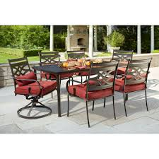 hampton bay middletown 7 piece patio dining set with chili