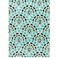 Bright Blue Rug Sagra Blue And Turquoise Outdoor Rug U2013 Sky Iris