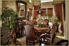 Dining Room Table Tuscan Decor Warm Interior Nuance Tuscan Style Home Decorating Ideas With