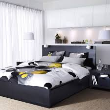 bedroom platform bed and bedding with nightstand for ikea