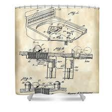 Vintage Shower Curtain Pinball Machine Patent 1939 Vintage Shower Curtain For Sale By