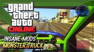 monster truck racing games play online gta 5 mods monster truck first person mod u0026 speedometer in gta 5