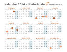 Kalendar 2018 Nederland Feiertage 2016 Niederlande Kalender übersicht
