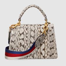 queen margaret small snakeskin top handle bag gucci women u0027s