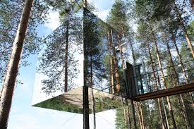i see your mirror house and raise you a mirror tree house pics