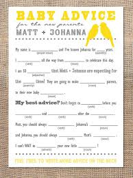 baby mad libs planning a baby shower baby advice mad gabs