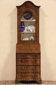 vintage secretary desk with hutch maple glass doors vintagedesk