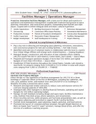sample resume operations manager cover letter operations manager