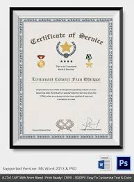 certificate of service template certificate for years of service