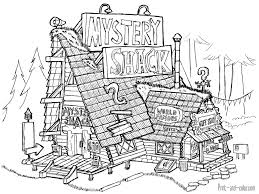 gravity falls coloring pages print coloring