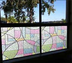 Decorative Window Film Stained Glass 2d Printed Static Cling Window Film Stained Glass Paper Decorative