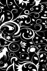 Black And White Design Seamless Texture With Flowers And Butterflies Endless Floral