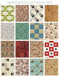 30 patterns for vinyl floor tiles from the 1950s floor tile