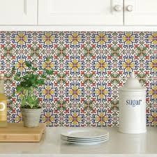 Stick And Peel Backsplash Tiles by Multi Color Tuscan Tile Peel Stick Backsplash Tiles Nh2365 The