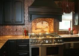 kitchen backsplash tin tin mural tuscan kitchen backsplash tuscan kitchen backsplash