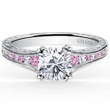 pink gold engagement rings kirk kara stella pink sapphire diamond channel set engagement ring
