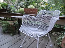Wire Patio Chairs Exterior Antique White Wire Chair By Woodard Furniture On Cozy