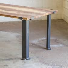 Flat Bar Table Legs Best 25 Steel Table Legs Ideas On Pinterest Steel Table Wood