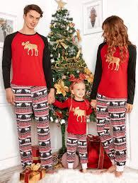 pajamas kid 130 elk deer matching family pajama