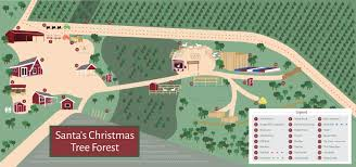 santa u0027s farm map santa u0027s christmas tree forest