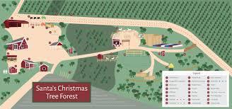 Christmas Map Santa U0027s Farm Map Santa U0027s Christmas Tree Forest